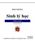 Ebook Bài giảng Sinh lý học - Phần 2