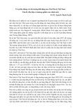 Về sự liên thông các thị trường bất động sản vốn tiền tệ Việt Nam: Vấn đề, dấu hiệu và hướng nghiên cứu chính sách