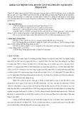 Khảo sát bệnh tăng huyết áp ở người lớn tại huyện Thọai Sơn