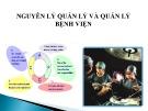 Bài giảng Nguyên lý quản lý và quản lý bệnh viện