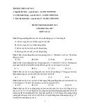 Đề kiểm tra HK 1 môn Vật lí lớp 12 năm 2016 - THPT Lấp Vò 1