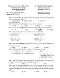 Đề kiểm tra HK 1 môn Vật lí lớp 12 năm 2016 - THPT Chuyên Nguyễn Quang Diêu