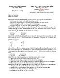 Đề kiểm tra chất lượng HK 1 môn Vật lí lớp 12 năm 2016 - THPT Giồng Thị Đam