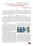 Nghiên cứu xử lý nước thải sinh hoạt bằng công nghệ SWIM-BED
