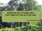 Báo cáo Những bài học từ chính sách phát triển cây cao su ở Việt Nam