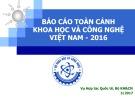 Báo cáo toàn cảnh khoa học và công nghệ Việt Nam - 2016