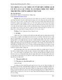 Tác động của các nhân tố vĩ mô đến chính sách cổ tức của các công ty cổ phần niêm yết trên thị trường chứng khoán Việt Nam