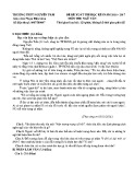 Đề thi HK 1 môn Ngữ văn lớp 12 năm 2016 - THPT Nguyễn Trãi