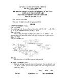 Đề thi tốt nghiệp cao đẳng nghề khoá II (năm 2008 - 2011) nghề Quản trị cơ sở dữ liệu môn thi lý thuyết nghề - Mã đề thi: QTCSDL-LT25
