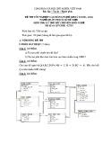 Đề thi tốt nghiệp cao đẳng nghề khoá II (năm 2008 - 2011) nghề Quản trị cơ sở dữ liệu môn thi lý thuyết nghề - Mã đề thi: QTCSDL-LT35