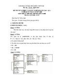 Đề thi tốt nghiệp cao đẳng nghề khoá II (năm 2008 - 2011) nghề Quản trị cơ sở dữ liệu môn thi lý thuyết nghề - Mã đề thi: QTCSDL-LT27