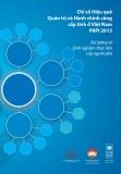 Báo cáo Chỉ số Hiệu quả quản trị và hành chính công cấp tỉnh ở Việt Nam PAPI 2013