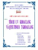 Tiểu luận: Tìm hiểu về khoai lang và quá trình sản xuất tinh bột khoai lang