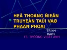 Bài giảng Hệ thống điện truyền tải và phân phối - TS. Trương Việt Anh