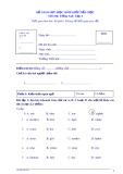 Đề giao lưu HSG tiểu học môn tiếng Anh lớp 4