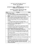 Đáp án đề thi tốt nghiệp cao đẳng nghề khoá 3 (2009 - 2012) nghề Quản trị khách sạn môn Lý thuyết chuyên môn nghề - Mã đề thi: DA QTKS - LT02