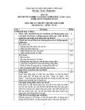 Đáp án đề thi tốt nghiệp cao đẳng nghề khoá 3 (2009 - 2012) nghề Quản trị khách sạn môn Lý thuyết chuyên môn nghề - Mã đề thi: DA QTKS - LT39