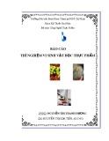Báo cáo: Thí nghiệm vi sinh vật học thực phẩm