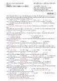 Đề kiểm tra 1 tiết môn Sinh học 12 năm 2017 - THPT Phạm Văn Đồng - Mã đề 153