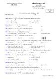Đề kiểm tra 1 tiết môn Giải tích 12 - THPT Nguyễn Du - Mã đề 132