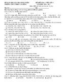 Đề kiểm tra 1 tiết môn Hoá lớp 12 lần 2 năm 2017 - THPT Phạm Văn Đồng