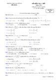 Đề kiểm tra 1 tiết môn Giải tích 12 - THPT Nguyễn Du - Mã đề 209