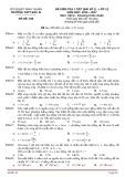 Đề kiểm tra 1 tiết môn Vật lí 12 năm 2017 - THPT Bác Ái - Mã đề 188