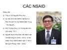 Bài giảng Các NSAIDS