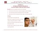 Bài giảng Tiền lâm sàng về kỹ năng lâm sàng - Chương 14: Kỹ năng hỏi khám lâm sàng và các thủ thuật cơ bản về mắt và thị lực