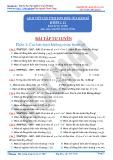 Bài tập tự luyện Cách tiếp cận tính đơn điệu của hàm số - Phần 1