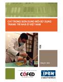 Báo cáo quốc gia: Lượng chì trong sơn dung môi trang trí cho hộ gia đình tại Việt Nam