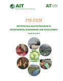 Chương trình thạc sỹ chuyên nghiệp về kỹ thuật và quản lý môi trường - năm học 2012 2013