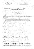 Đề kiểm tra HK 2 môn Toán 10 năm 2017 - THPT Lương Ngọc Quyến - Mã đề 485