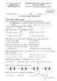 Đề kiểm tra HK 2 môn Toán 10 năm 2017 - THPT Lương Ngọc Quyến - Mã đề 132