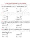 33 Bài tập Thể tích khối lăng trụ (Phần 2)