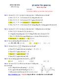 Kiểm tra định kỳ Tính đơn điệu và cực trị - Đề số 01