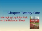 Lecture Financial markets and institutions: Chapter 21 - Anthony Saunders, Marcia Millon Cornett