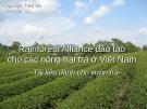 Bài giảng Rainforest Alliance đào tạo cho các nông trại trà ở Việt Nam