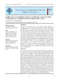 Nghiên cứu các mô hình canh tác có hiệu quả cho vùng đệm Vườn Quốc gia U Minh Hạ, huyện U Minh, tỉnh Cà Mau