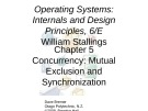 Lecture Operating systems: Internals and design principles (6/E): Chapter 5 - William Stallings