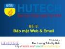 Bài giảng Bảo mật thông tin - Bài 8: Bảo mật Web và Email