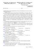 Đề kiểm tra HK 2 môn tiếng Anh lớp 10 năm 2017 - THPT Nguyễn Văn Cừ - Mã đề 103