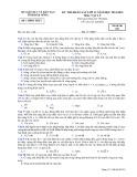 Đề thi KSCL HK 1 môn Vật lí lớp 12 năm 2015 - Sở GD&ĐT Đăk Nông - Mã đề 210