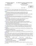 Đề thi KSCL HK 1 môn Sinh học lớp 12 năm 2015 - Sở GD&ĐT Đăk Nông - Mã đề 482