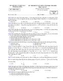 Đề thi KSCL HK 1 môn Vật lí lớp 12 năm 2015 - Sở GD&ĐT Đăk Nông - Mã đề 483