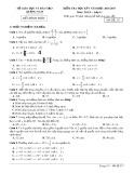 Đề kiểm tra HK 1 môn Toán lớp 11 năm 2017 - Sở GD&ĐT Quảng Nam - Mã đề 217