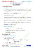 Chuyên đề 4: Tích phân - Chủ đề 4.2