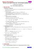 Chuyên đề 7: Hình học không gian - Chủ đề 7.2