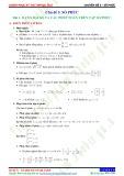 Chuyên đề 5: Số phức - Chủ đề 5.1
