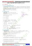 Chuyên đề 8: Phương pháp toạ độ trong không gian - Chủ đề 8.1